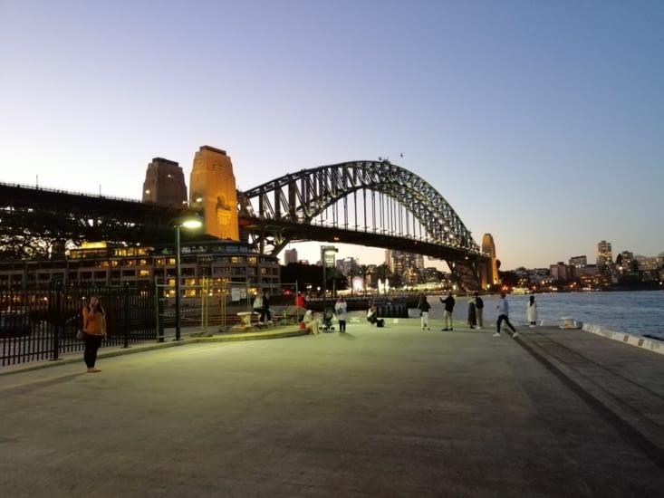Harbour Bridge au coucher du soleil