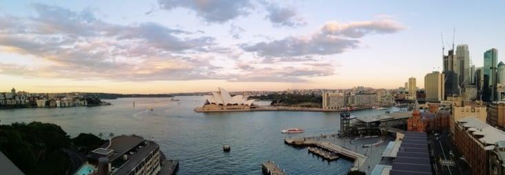 Panoramique depuis le Harbour Bridge.