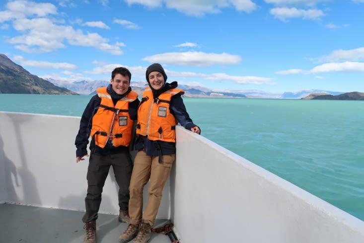 Sur le bateau vers Villa O'Higgins