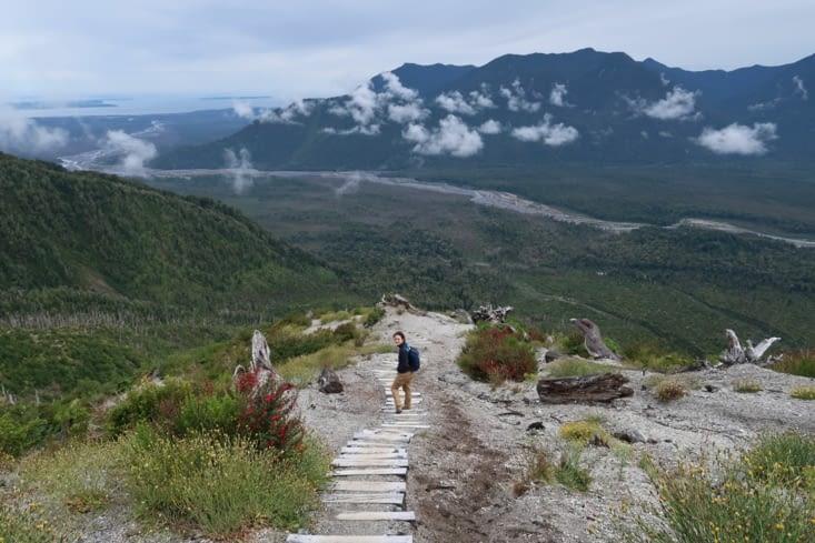 L'interminable escalier du volcan
