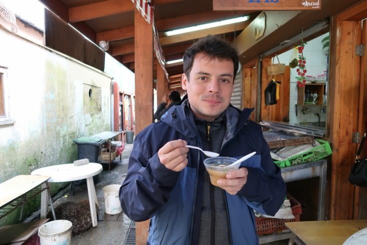 Les oursins au marché d'Ancud