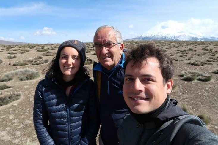 Selfie volcan