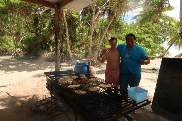 Barbecue avec Manu