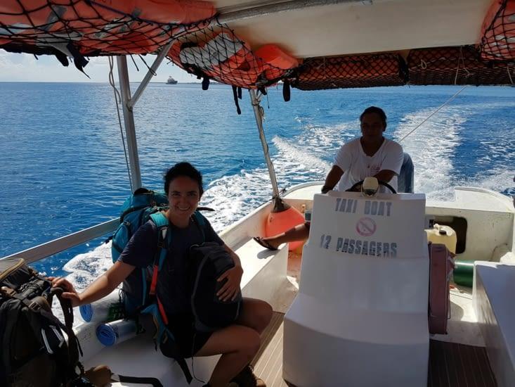 Taxi bateau pour Tiputa