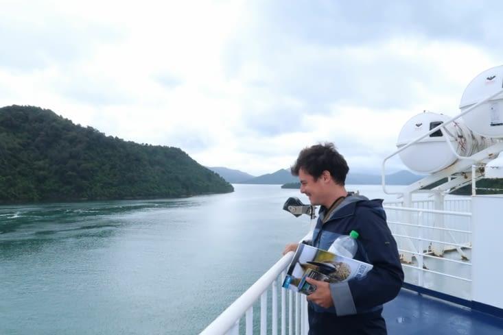 A bord du paquebot en direction de Picton