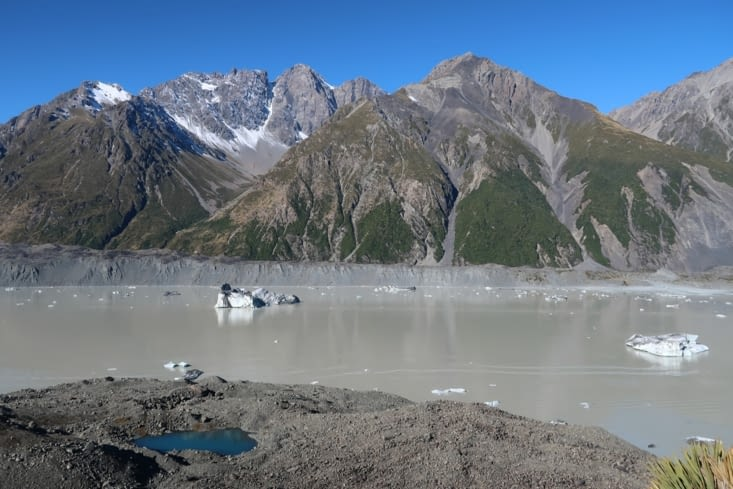 Le lac du glacier Tasman