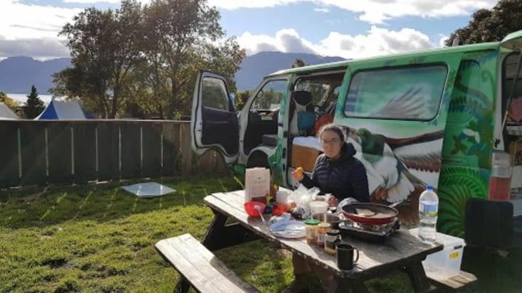 Camping au lac Hawea