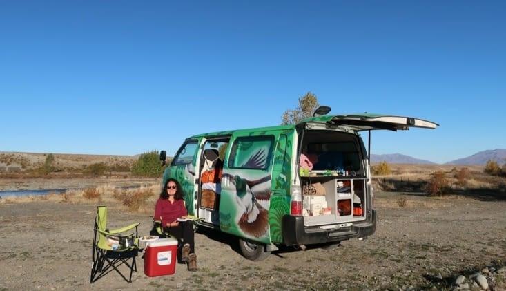 Le camping au bord de la rivière