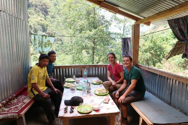 Déjeuner dans une guesthouse