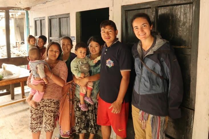 Famille qui nous accueille dans leur guesthouse