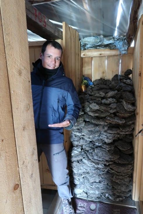 Bienvenue dans notre chambre, au fond du couloir avant la montagne de crottes de Yak