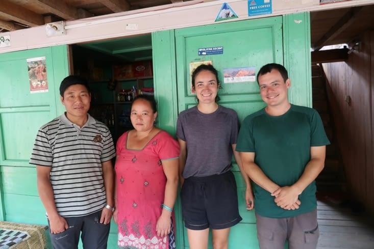 Nos hôtes à Khebang