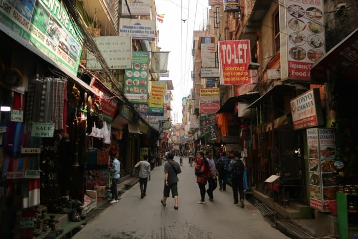 Thamel, le quartier touristique