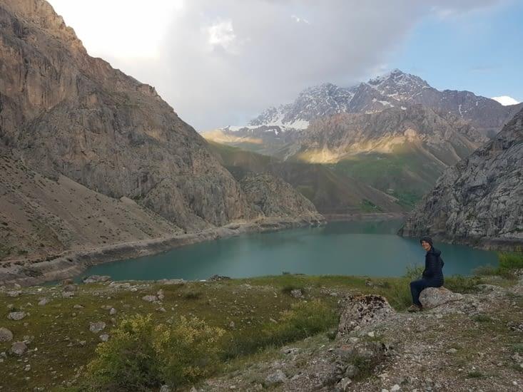 Pose près du lac