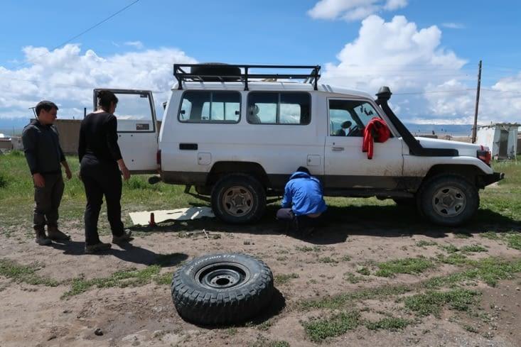 Le changement de pneu