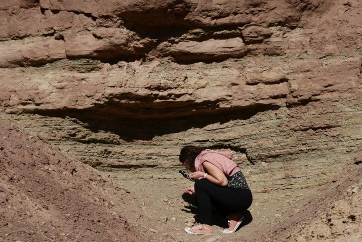 Géologue en action / Geologist in action