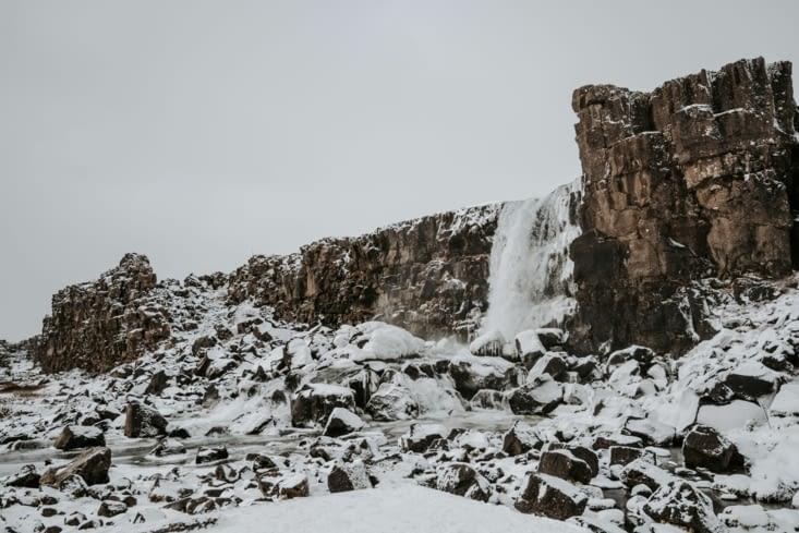 Cascade d'Öxarárfoss