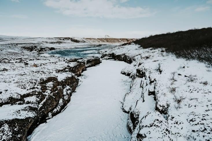 Entre Gullfoss et Hjalparfoss