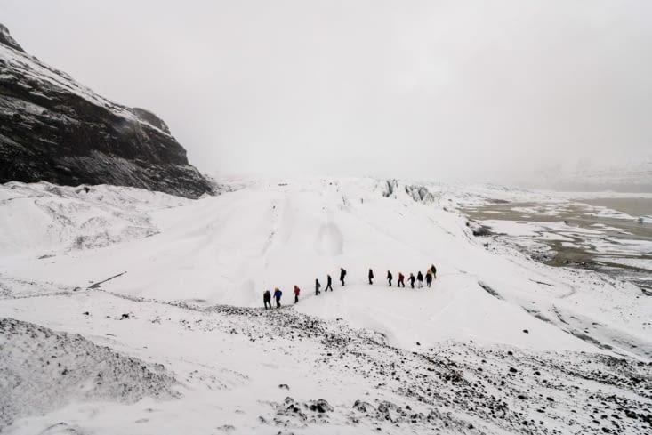 Sur le glacier Skaftafellsjökull
