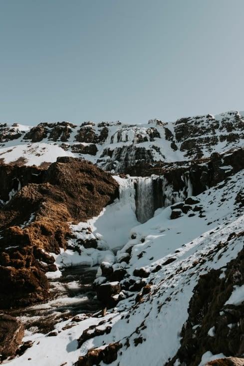 Cascade Strompgljúfrafoss (Fjallfoss se trouve juste au dessus)