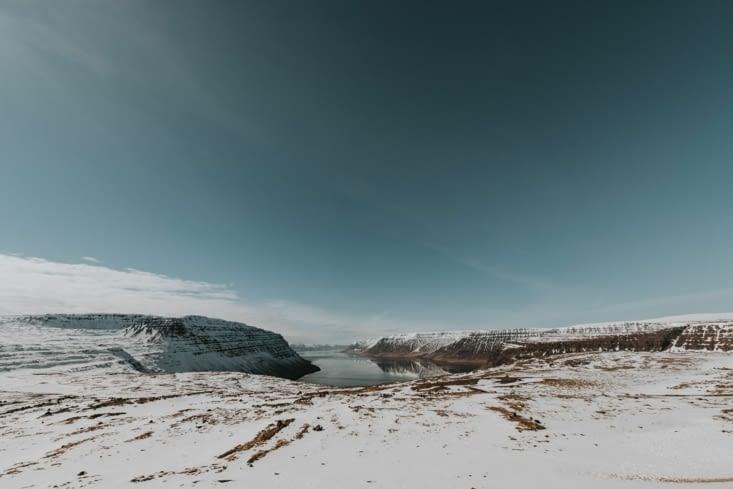 L'unique photo du trajet entre Dynjandi et Flókalundur.