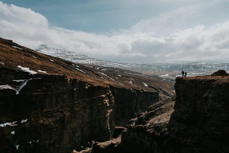 vue depuis la cascade Glymur