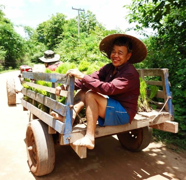Un paysan qui revient des champs / A farmer back form the fields