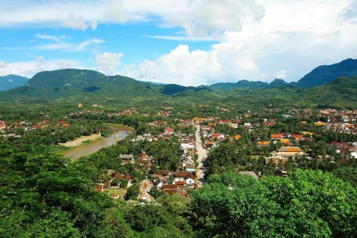 Vue sur Luang Prabang / View on Luang Prabang