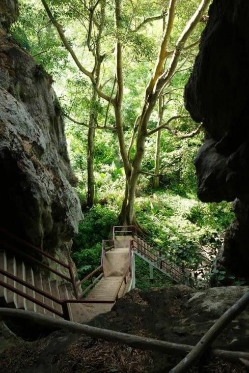 La montée jusqu'à la grotte/Climbing to the cave