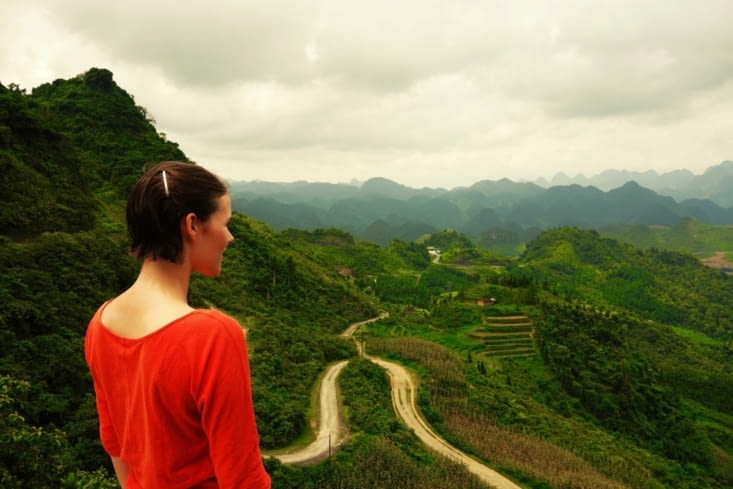 Sur la route entre Ha Giang et Tam Som / On the road between Ha Giang and Tam Som
