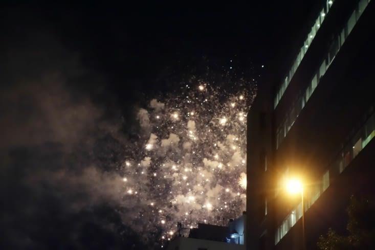 La moitié d'un feu d'artifices / Half of a firework