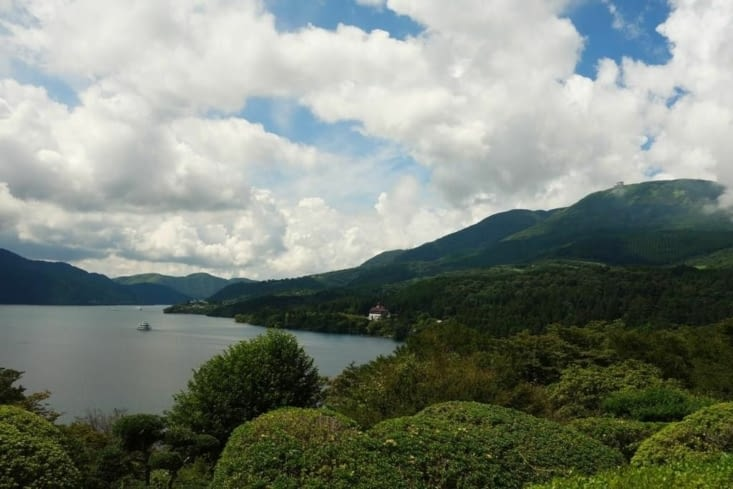 Depuis le promontoir (mais pas de Mont Fuji) / From the hill (but no Fuji Mount)