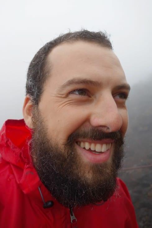 Stalactites sur la barbe de Julien! / Stalactites on Julien's beard