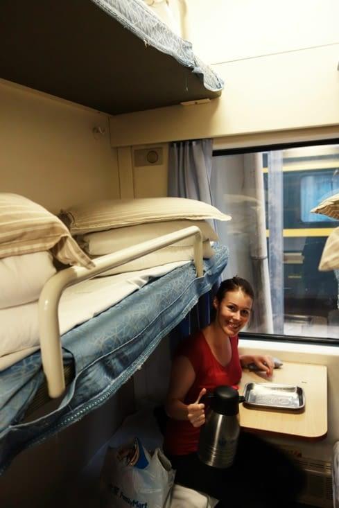 Dans le train couchette / In sleepers train