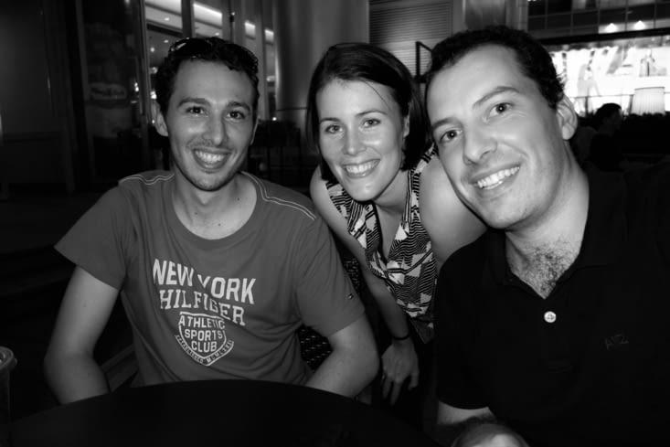 En terrasse avec Fabio / Having a drink with Fabio