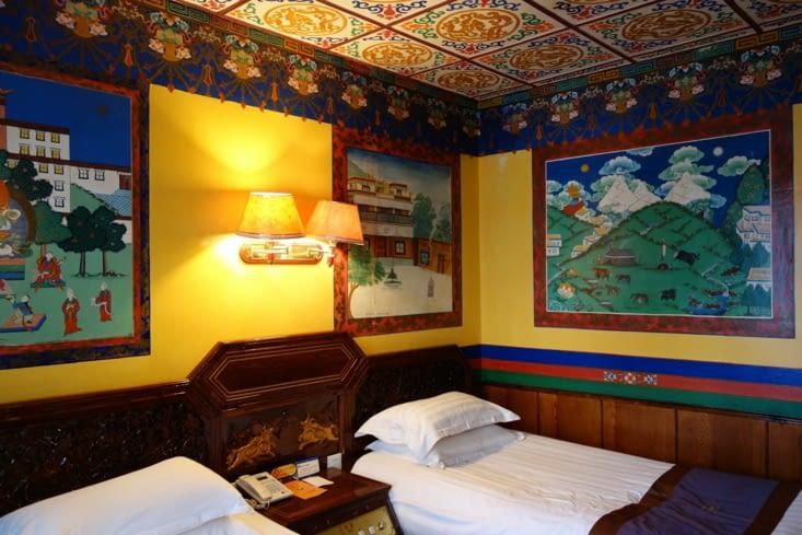Décoration typique tibétaine / Typical tibetan decoration