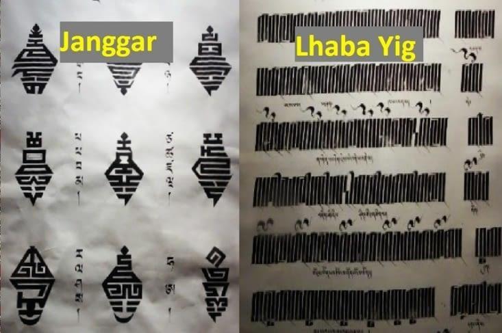 Calligraphie Tibétaine / Tibetan calligraphy