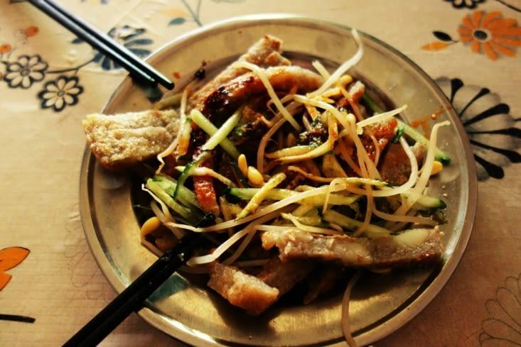 Crêpe de sarrasin épaisse et pousse de soja / Thick buckwheat crepe and soya shoot