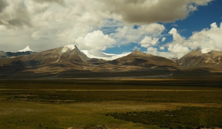 Jolis paysages à l'approche de Xining / Beautiful landscapes arriving in Xining