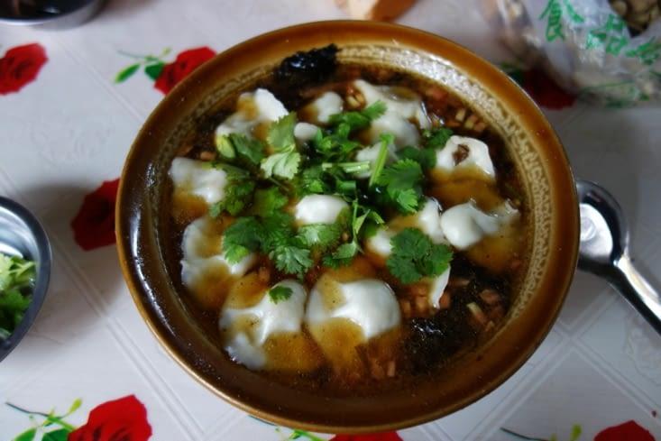 Soupe de raviolis / Wontons soup