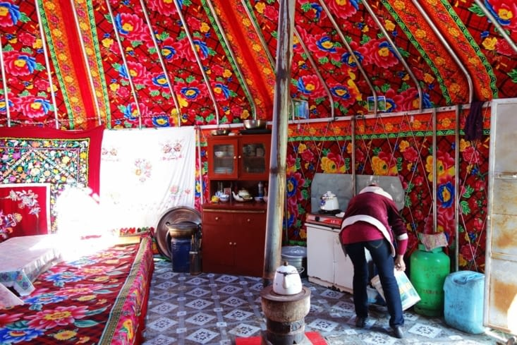 Dans la yourte / In the yurt