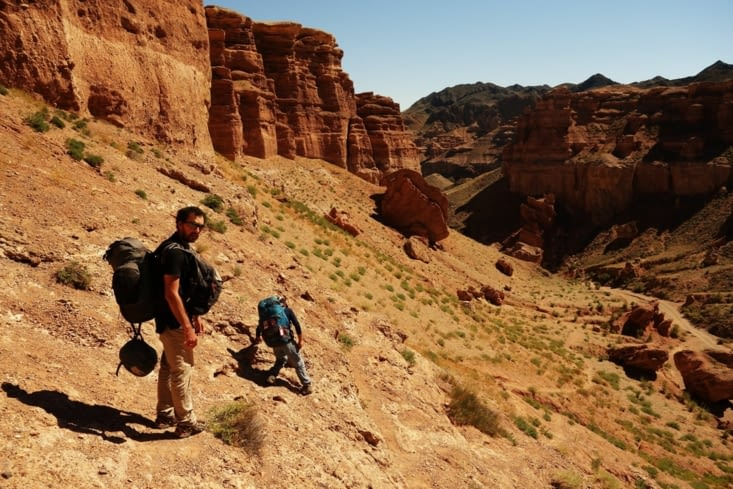 A la descente / On the way down in the canyon