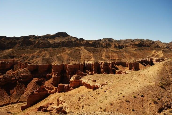 En haut du canyon / On the top of it