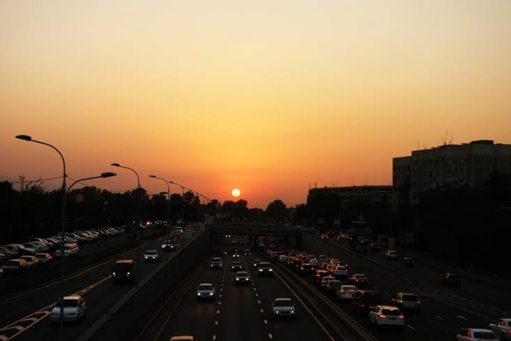Couché de soleil sur Almaty / Sunset on Almaty