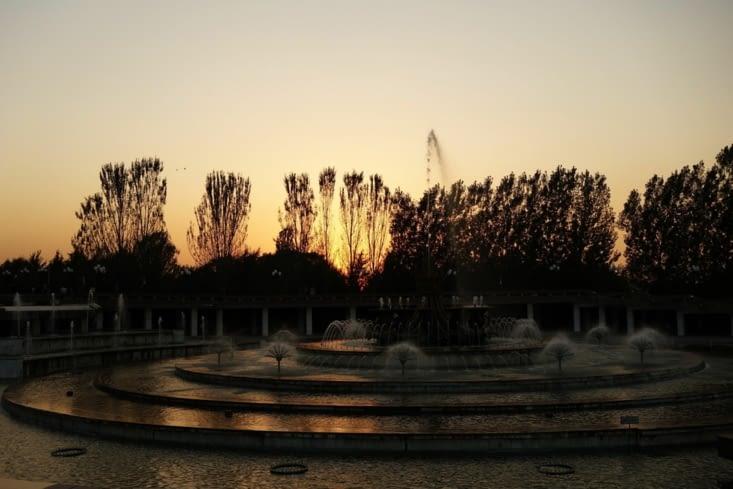 Fontaine dans le parc / Fountain in the park