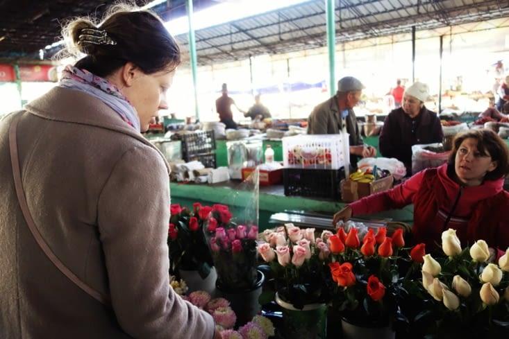 Tatiana au marché / Tatiana in the market