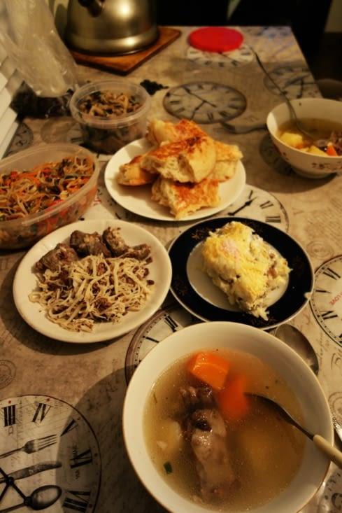 Plats kazakhs et russes / Russian and kazakh food
