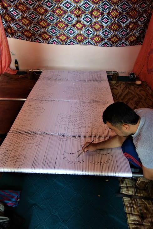 Préparation des motifs / Preparation of the pattern