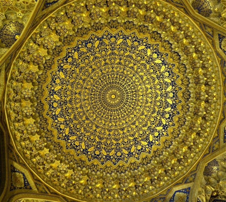 Plafond de la madrasa de Tylia Kari / Tylia Kari madrasa rooftop