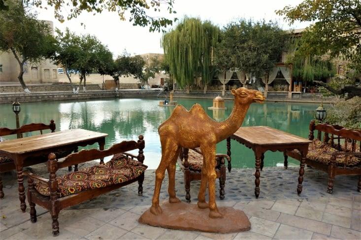 Lyab-i Hauz, le bassin central / Lyab-i Hauz the main pond